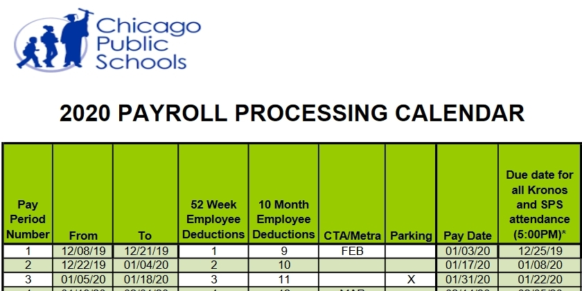 Cps Payroll Calendar 2021 2020 | Qualads