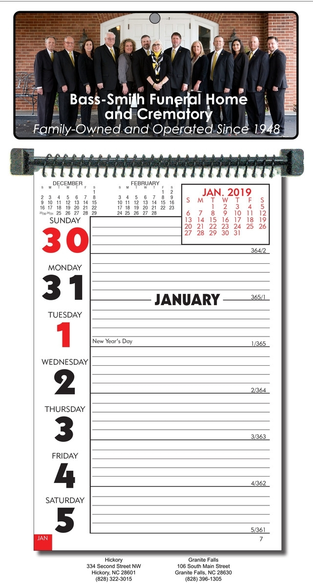 Custom Almanac Week-At-A-Glance Wall Calendar(4 Color