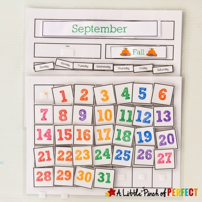 Cute Free Printable Calendar For Home Of School With Kids