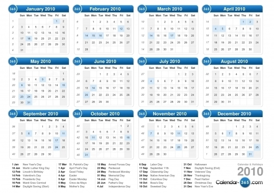 Days Of The Year Numbered | Printable Calendar Template 2020