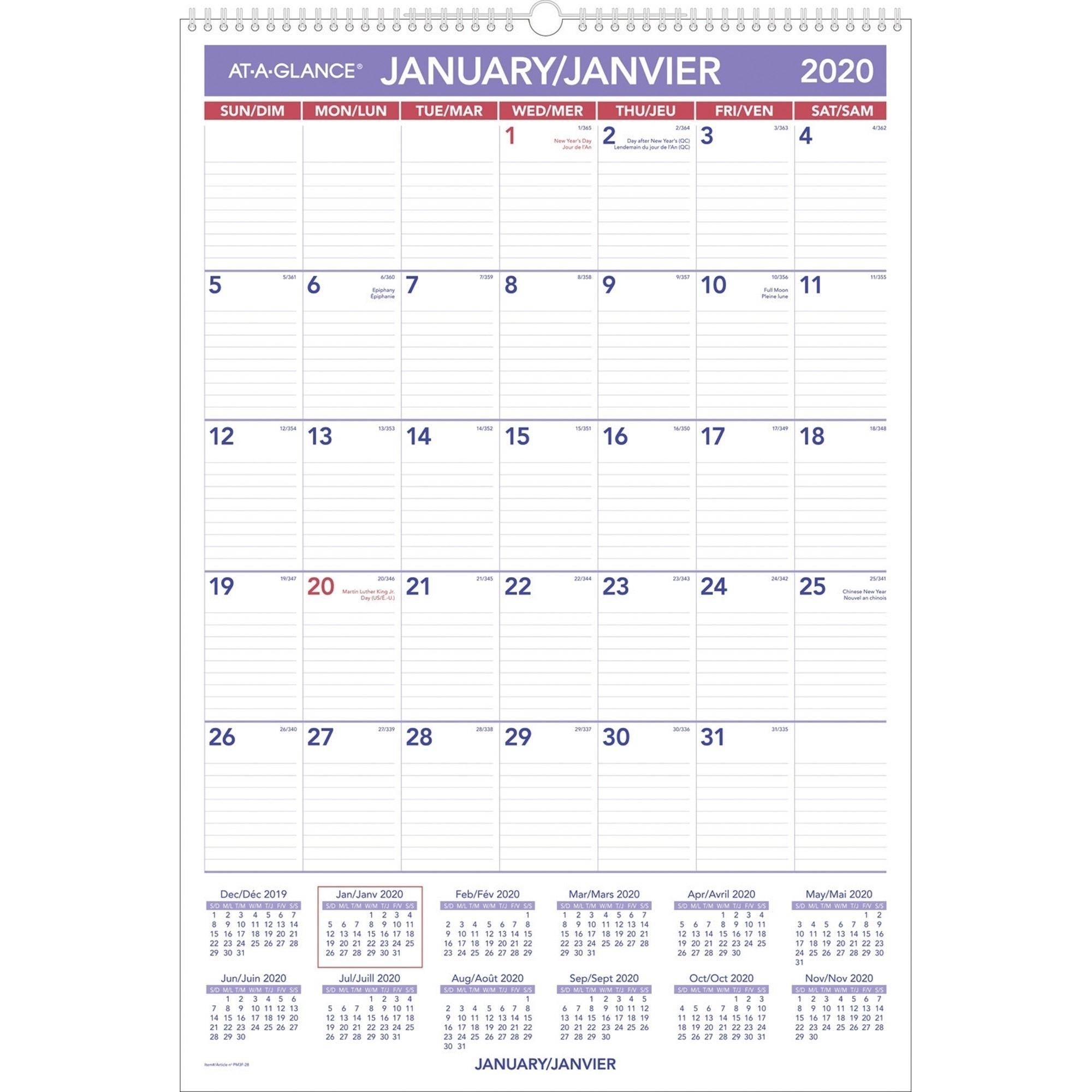 December Calander With Julian Dates | Calendar 2020 Template