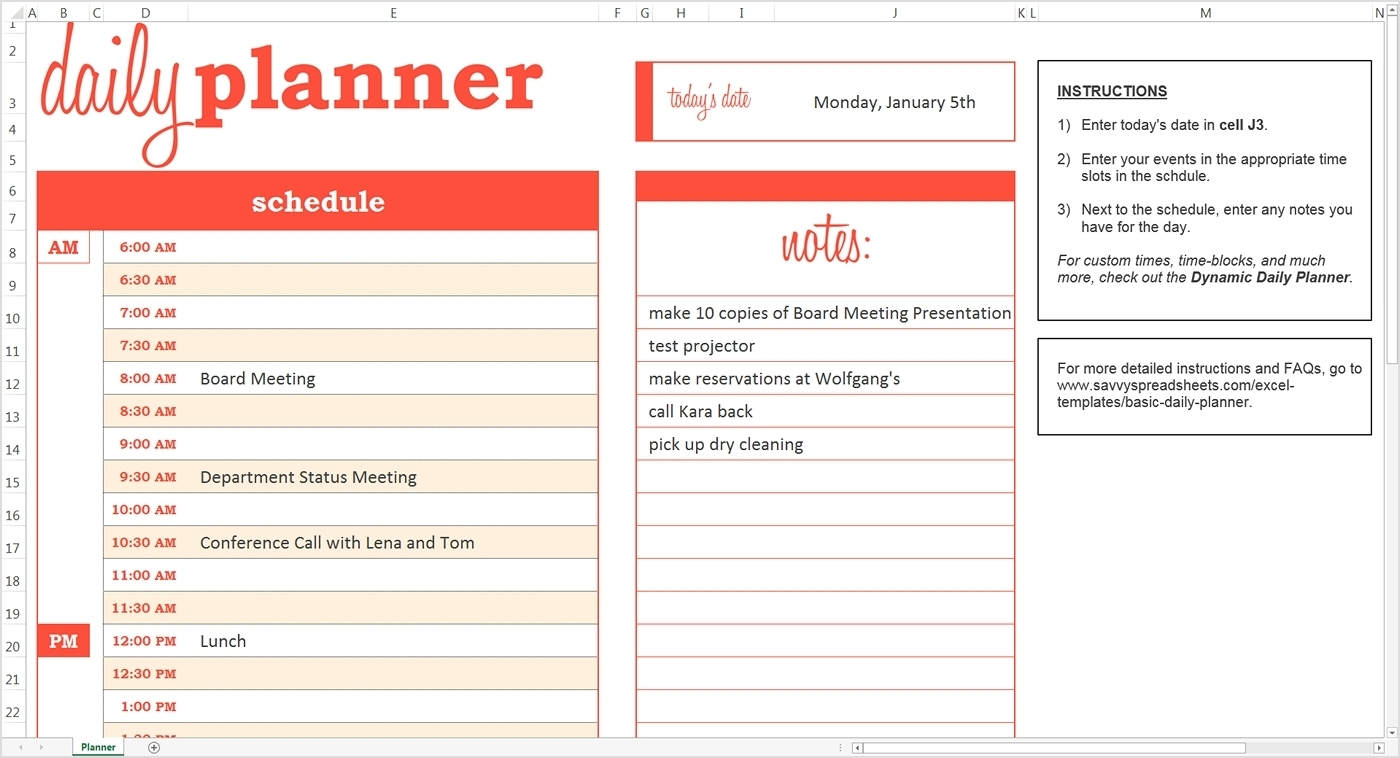 Design A Daily Calendar | Daily Calendar Printable 2020