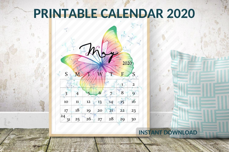 Desk Calendar 2020 Template, Calendar 2020 Printable