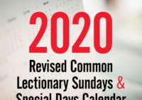 Discipleship Ministries   2020 Revised Common Lectionary