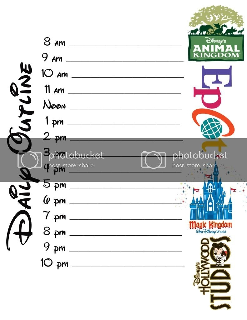 Disney Planning Sheets | The Dis Disney Discussion Forums