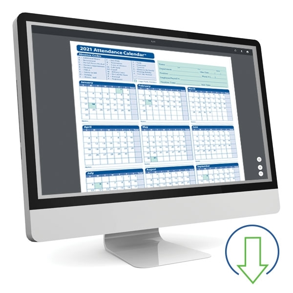 Downloadable Employee Attendance Calendar | Hrdirect