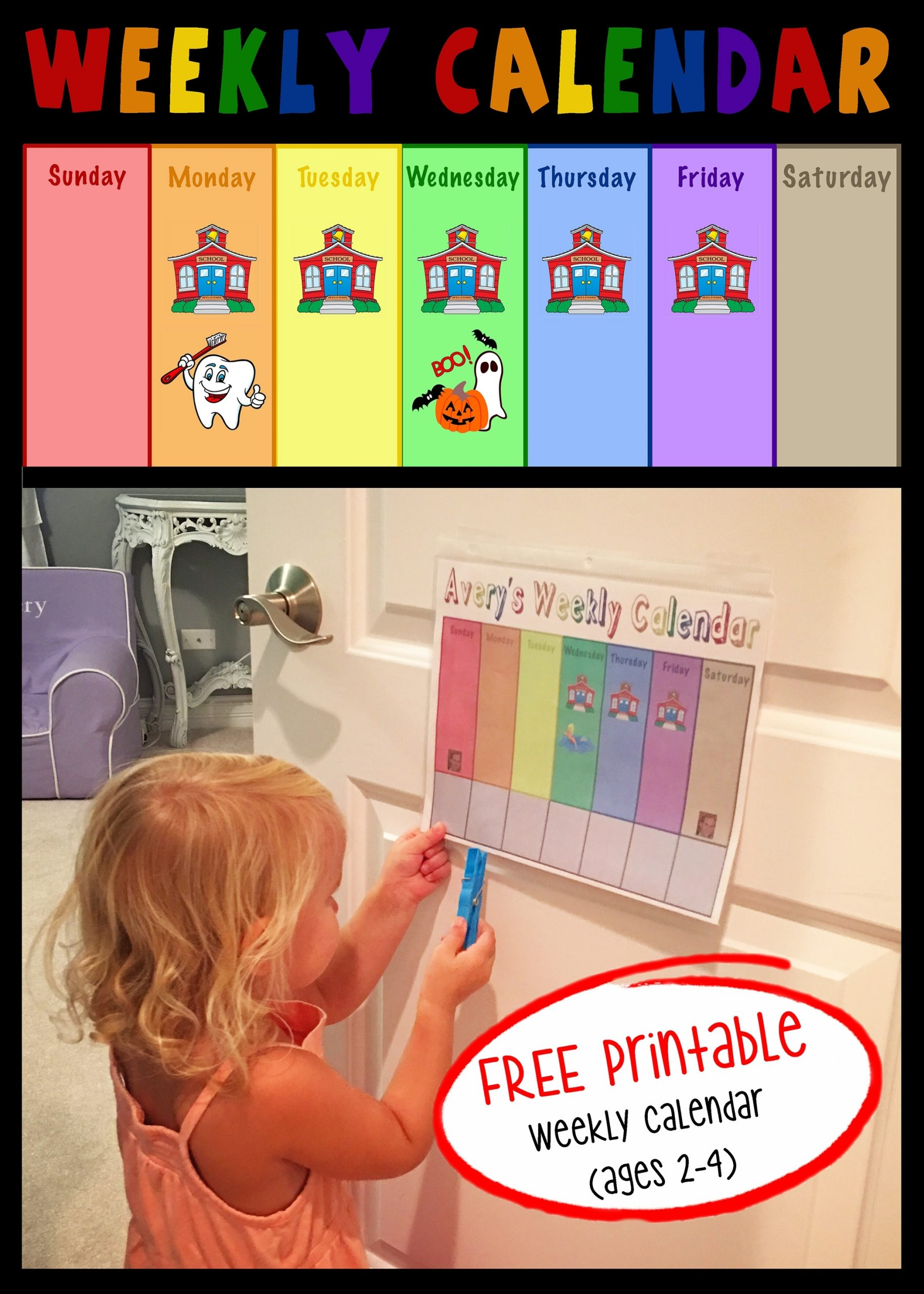 Toddler Weekly Calendar | Projects In Parenting