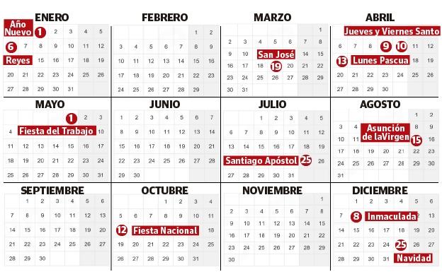 El Calendario Laboral De 2020 En Euskadi | El Diario Vasco