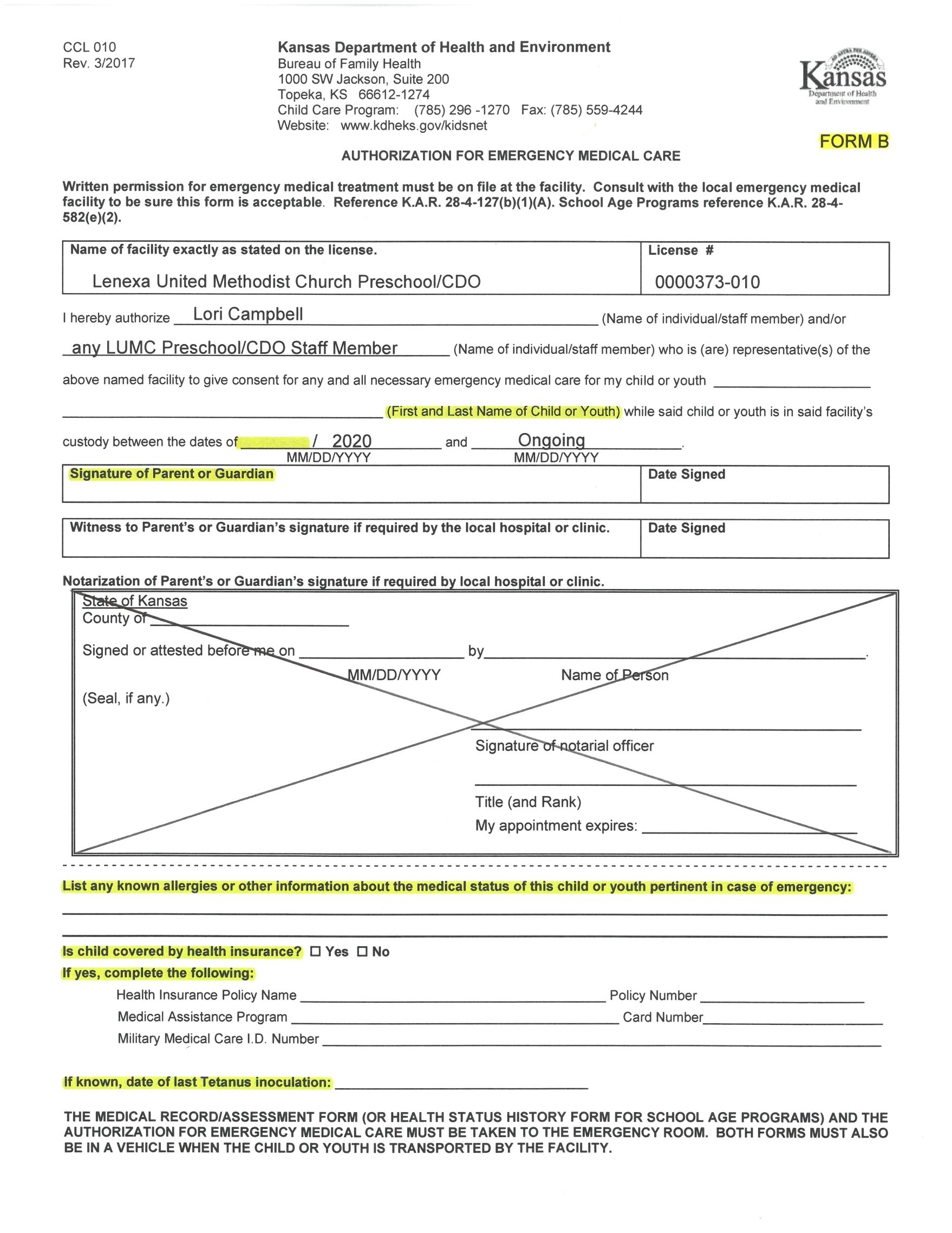 Enrollment Forms - Home