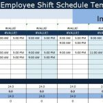 Fall Calendar Schedule Template Work Shift