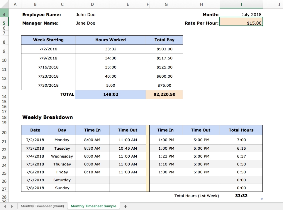Excel Time Tracking: 4 Templates, Pros And Cons And