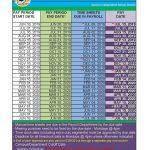 Federal Employee Pay Calendar 2021