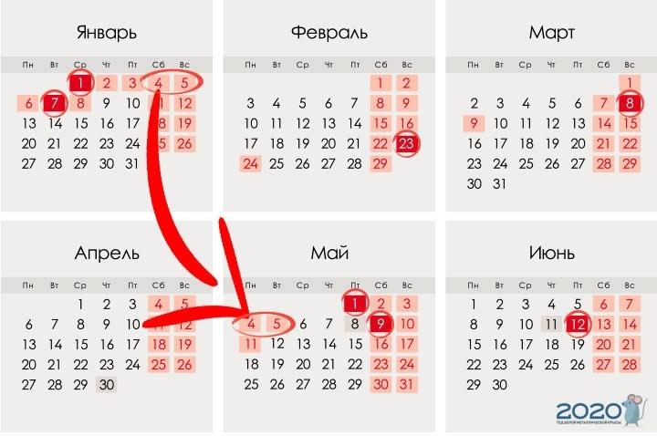 Factory Calendar For 2021 — 2021 Year