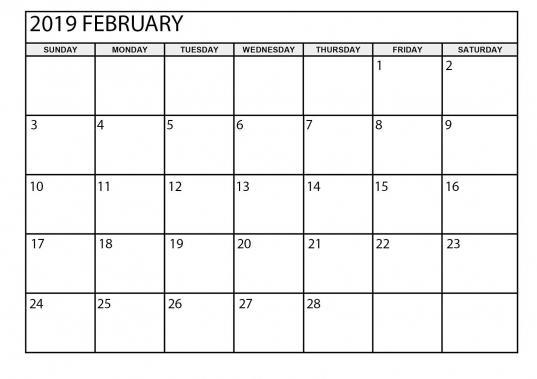 February 2019 Calendar Printable Large   August Calendar