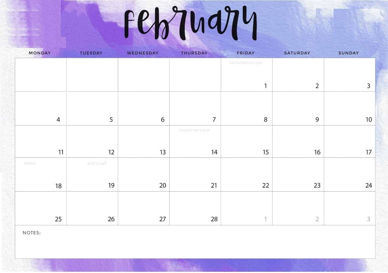 February 2019 Printable Calendar Templates - Free