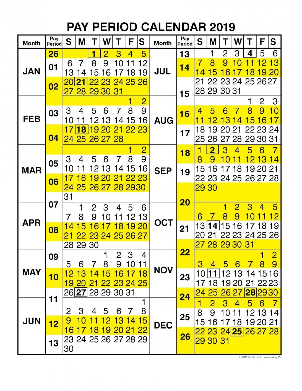 Federal Government Pay Period Calendar 2020 - Calendar