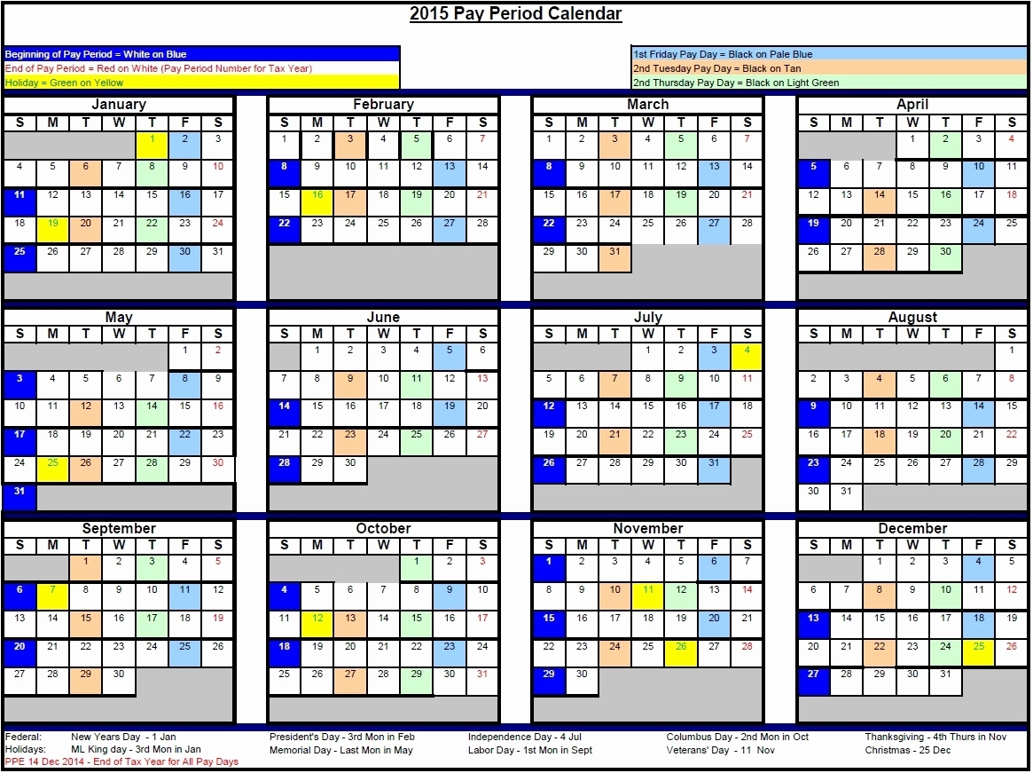 Federal Pay Period Calendar 2020 Printable | Calendar