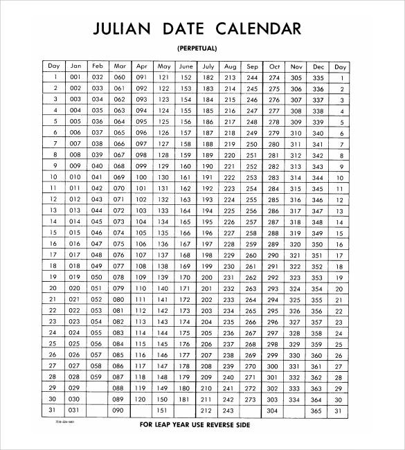 Free 7+ Julian Calendar Templates In Pdf | Psd