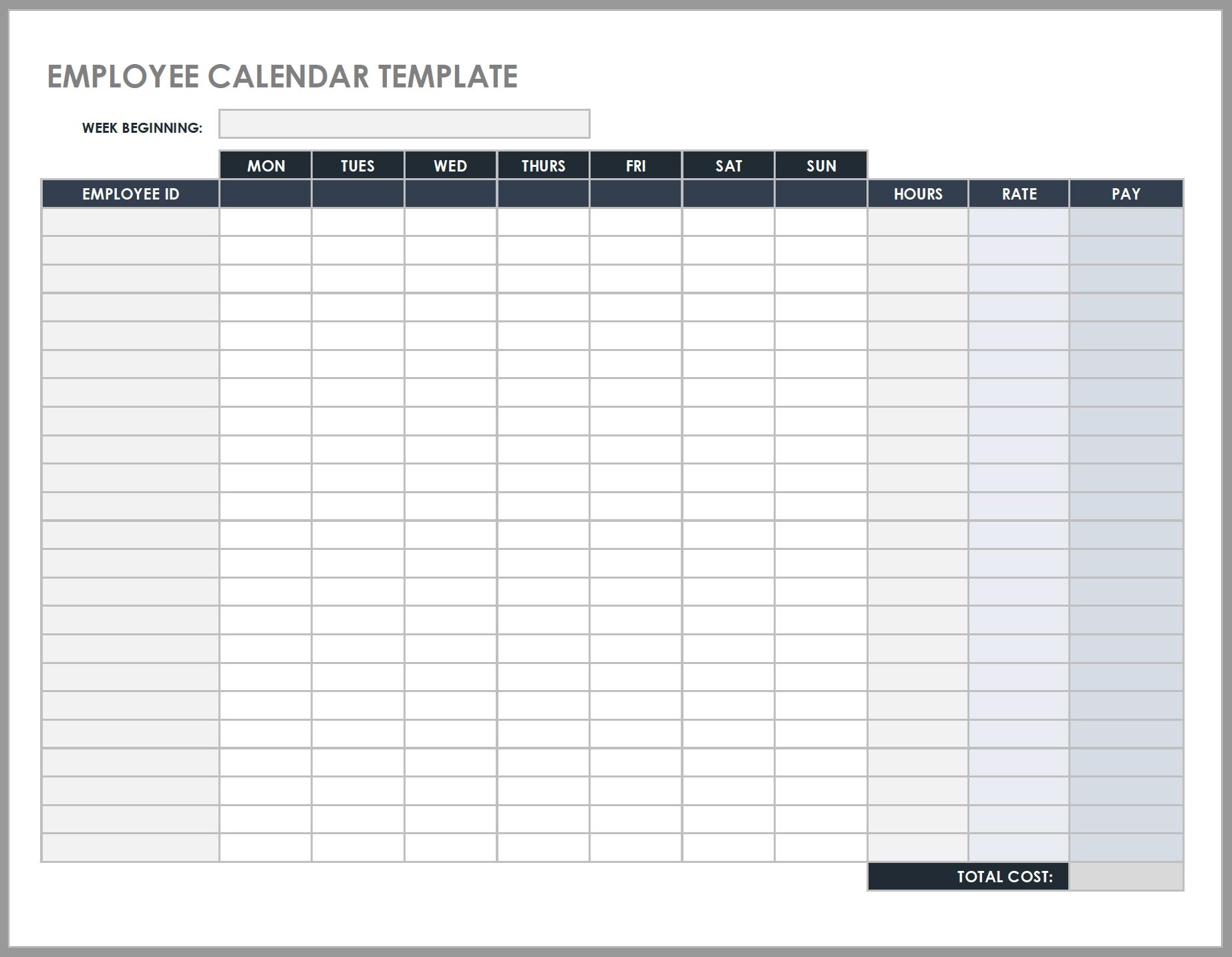 Free Daily Work Schedule Templates | Smartsheet