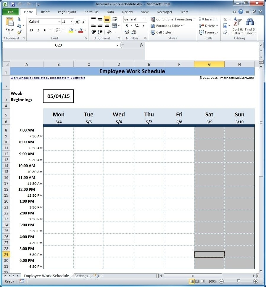 Free Employee And Shift Schedule Templates Pertaining To 3