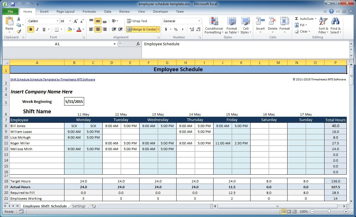 Free Employee Scheduling Calendar Software | Qualads
