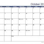 52 Week Numbered Calendar Blank