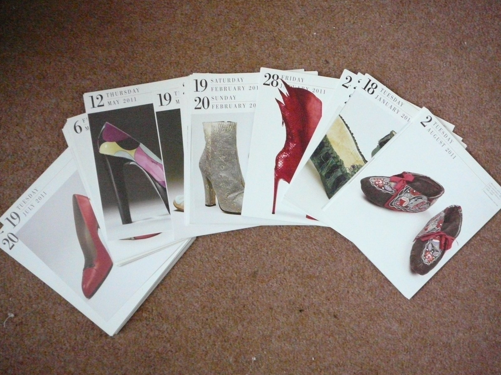 Free: Old Calendar With Pictures Of Shoes (Sg17 (Shefford))