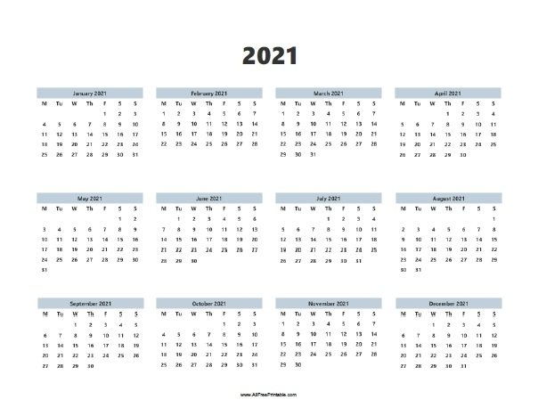 Free Printable 2021 Calendars With Note | Free Calendar