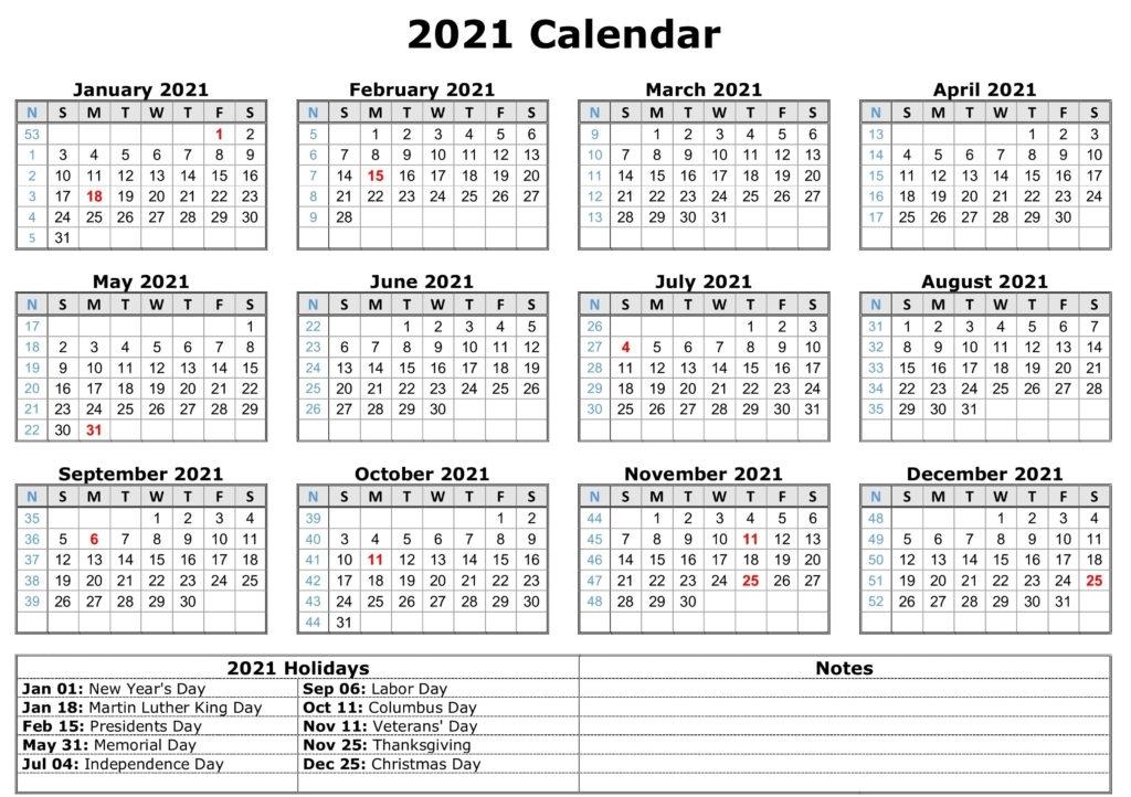 Free Printable Calendar 2021 Canada - Printable Calendar 2020