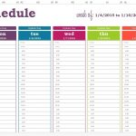 Daily Calendar With Time Free Printable