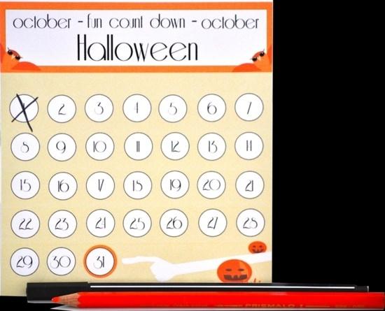 Free Printable Halloween Countdown Calendar – Tip Junkie