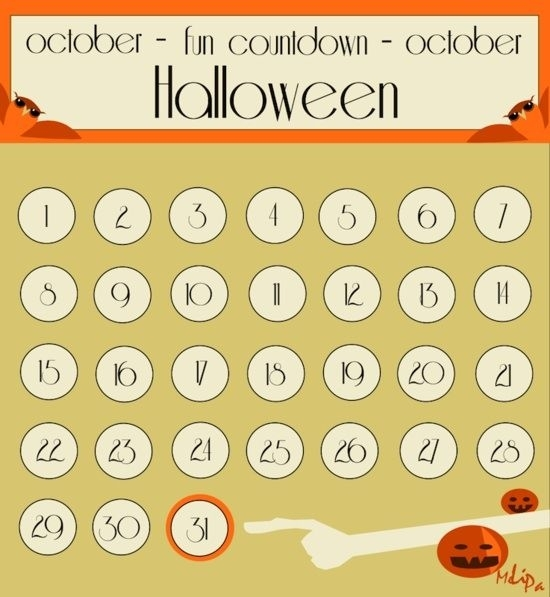 Free Printable Halloween Countdown Calendar (With Images