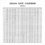 Julian Calendar 2020 Printable