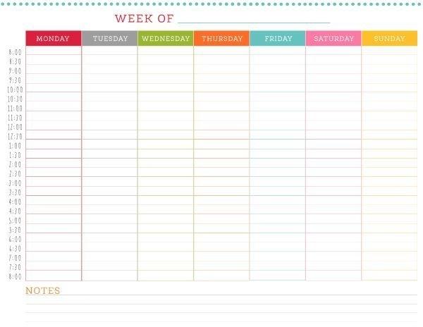 Free Printable Weekly Schedule | Weekly Schedule, Weekly