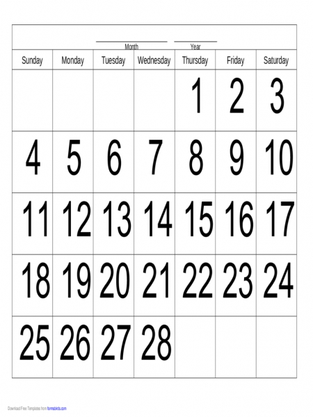 Handwriting Calendar   28 Day   Thursday   Edit, Fill, Sign