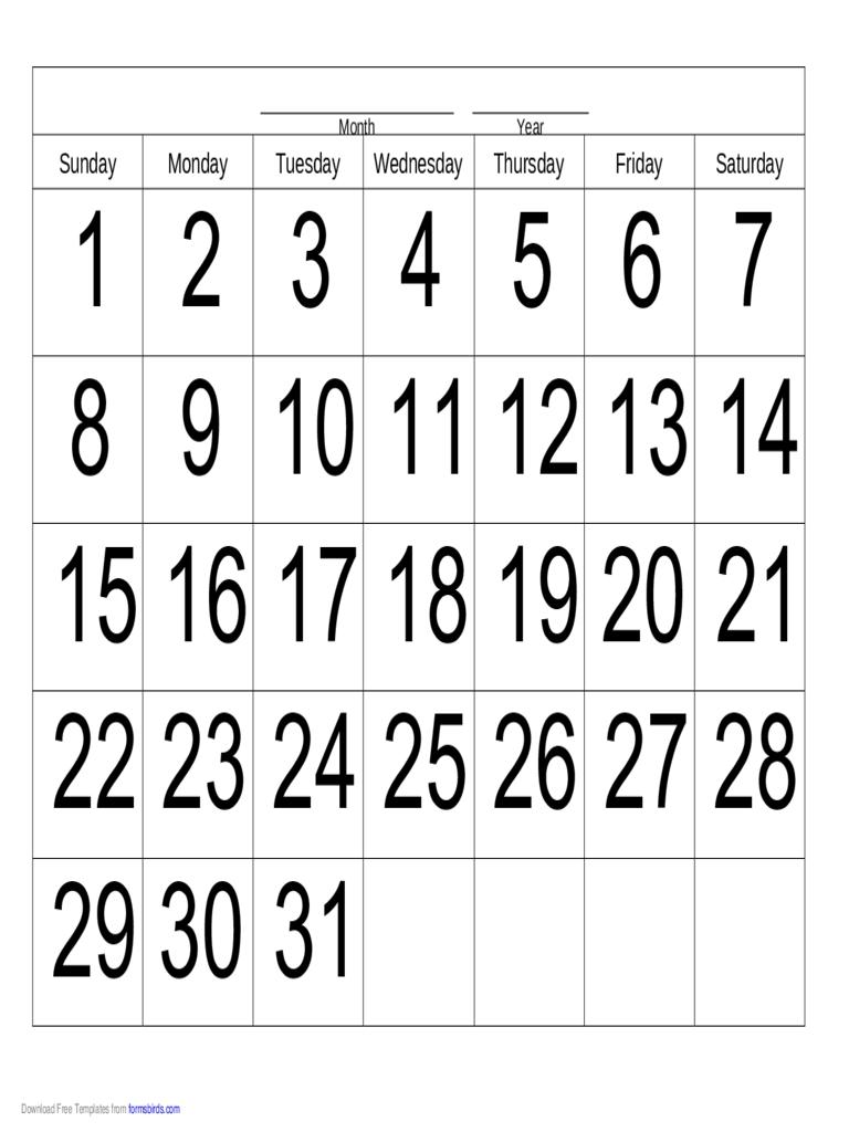 Handwriting Calendar - 31 Day - Sunday - Edit, Fill, Sign