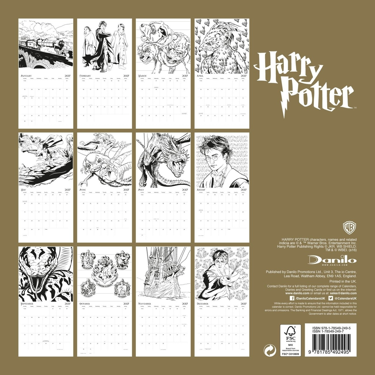 Harry Potter - Calendars 2021 On Ukposters/Europosters