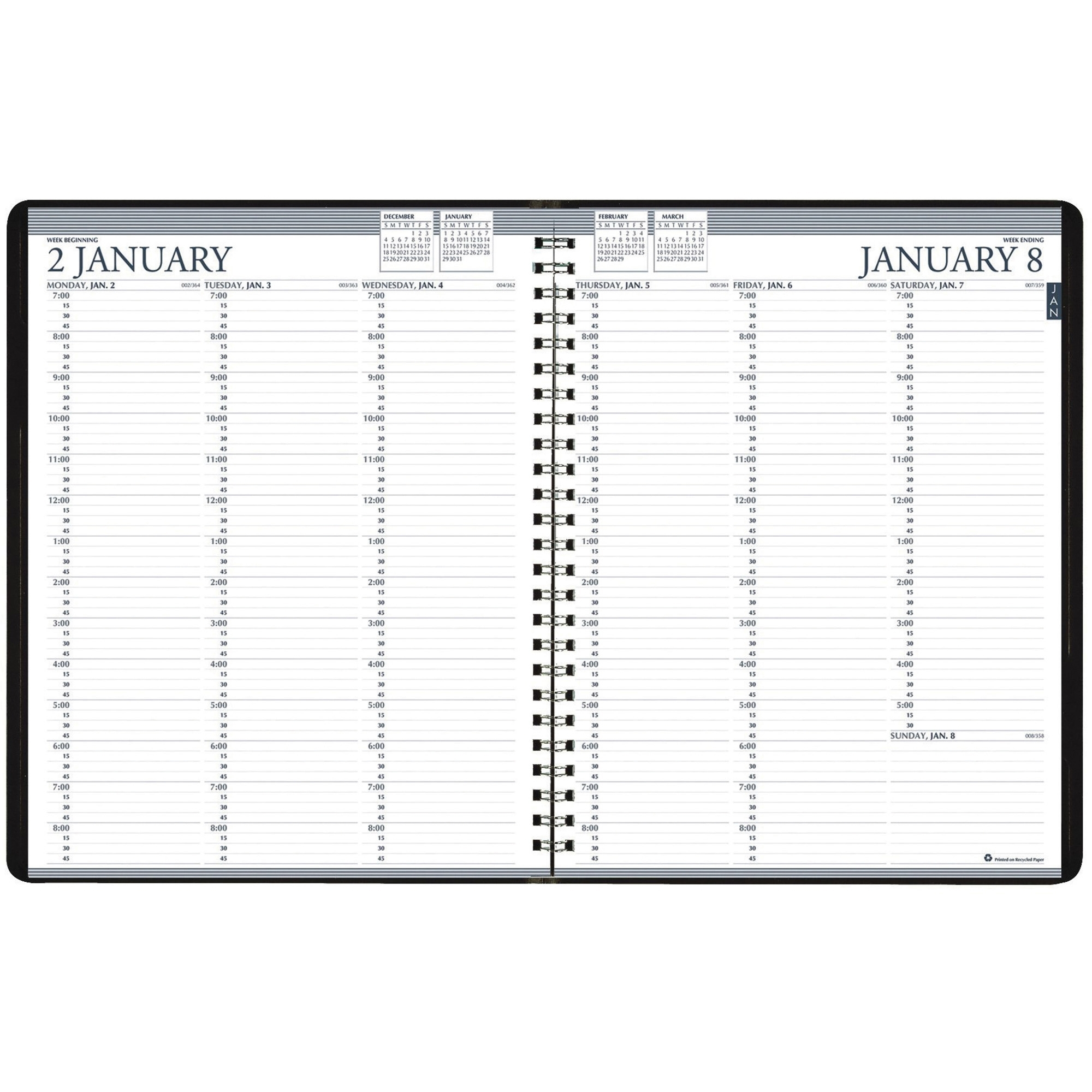 House Of Doolittle Blue Professional Weekly Planner