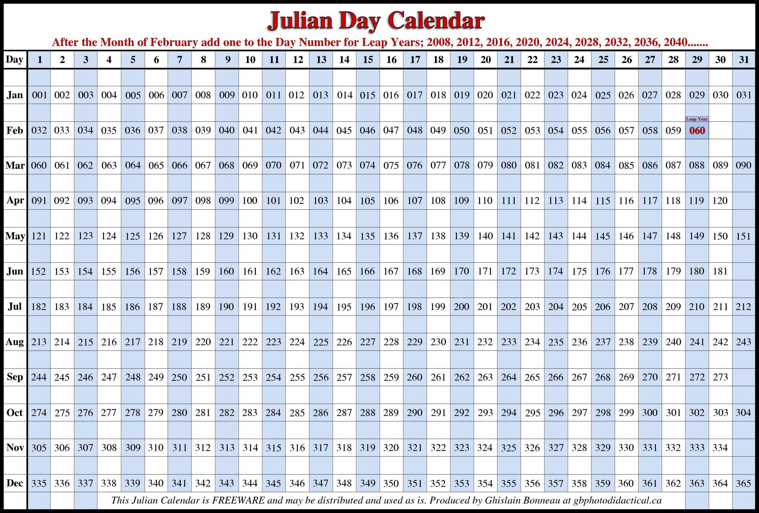 Image Result For Julian Dates   2018 Calendar Template
