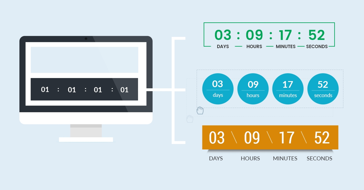 Insert Beautifully Designed Countdown Timers In WordPress