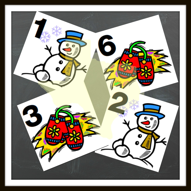 January Daily Numbers Calendar Winter Classroom Calendar