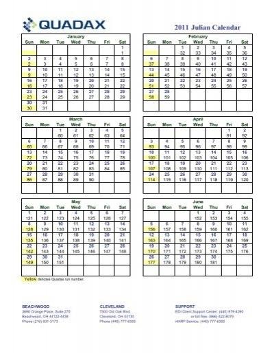 Julian Calendar 2011