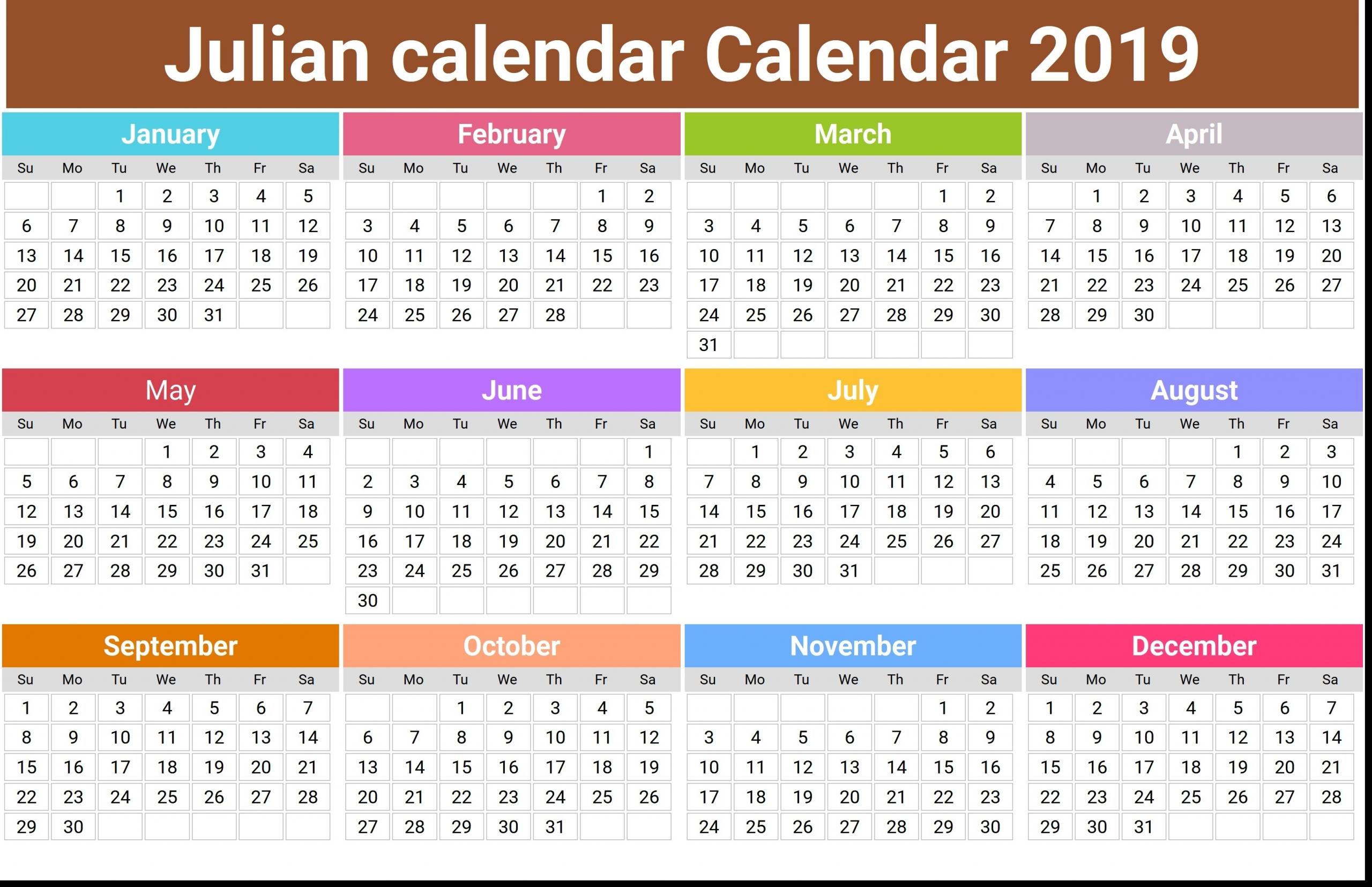 Julian Calendar 2020 2020 Template | Example Calendar
