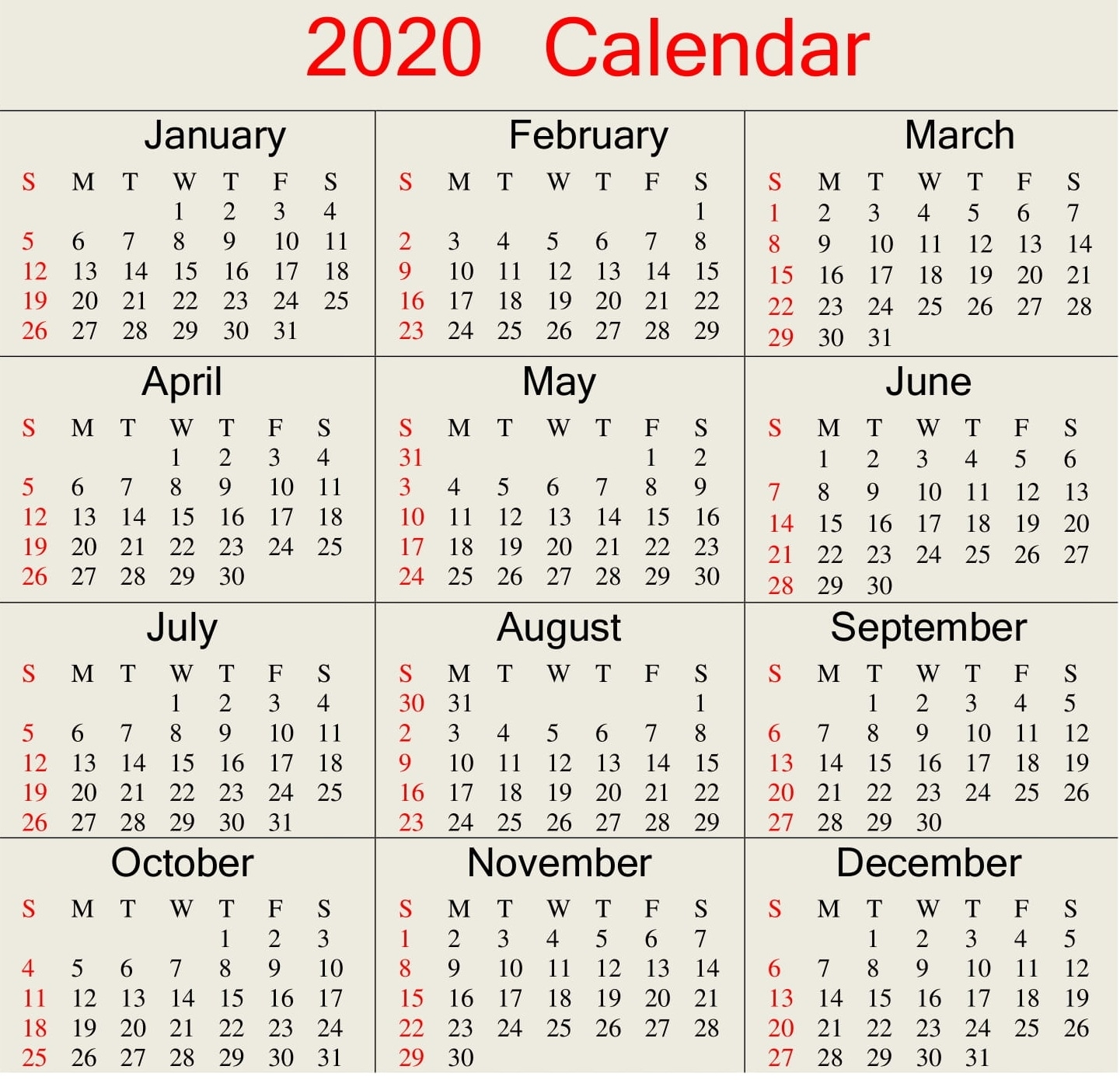 Julian Date Calendar For Year 2020 | Calendar For Planning