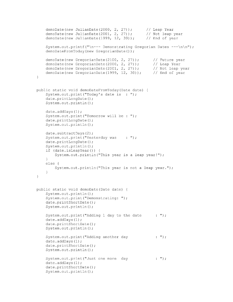 Julian Date In Java | Calendar For Planning