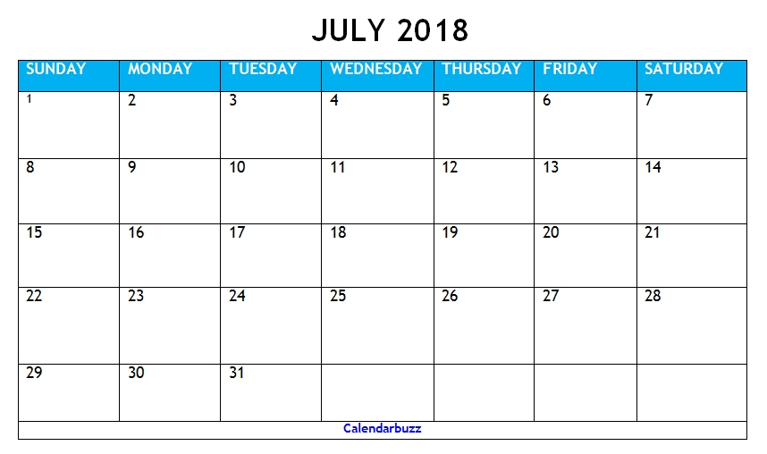 July August 31 Days - Takvim Kalender Hd