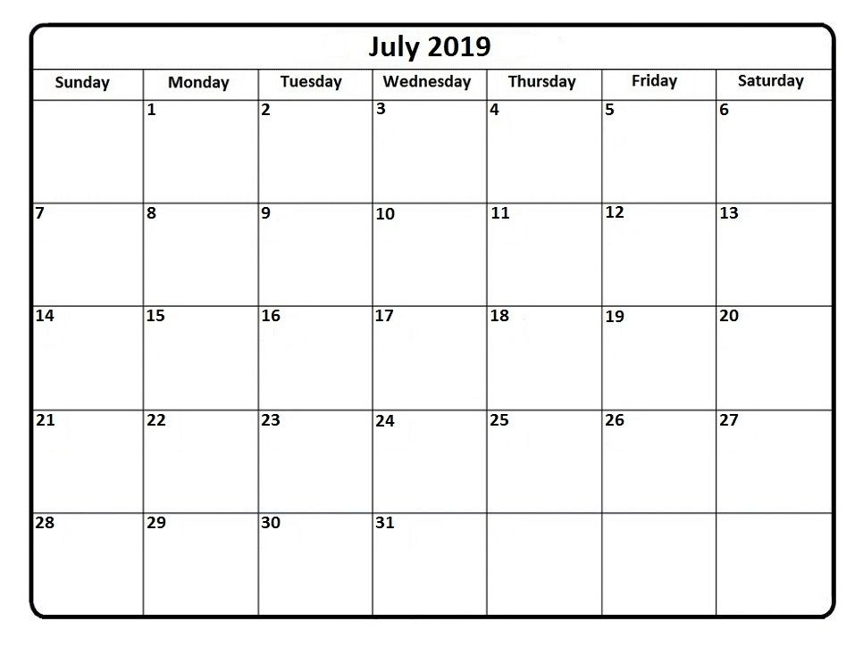 July Is The Seventh Month Of The Year According To The