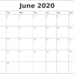 Printable Calendars Mon To Sun 2020