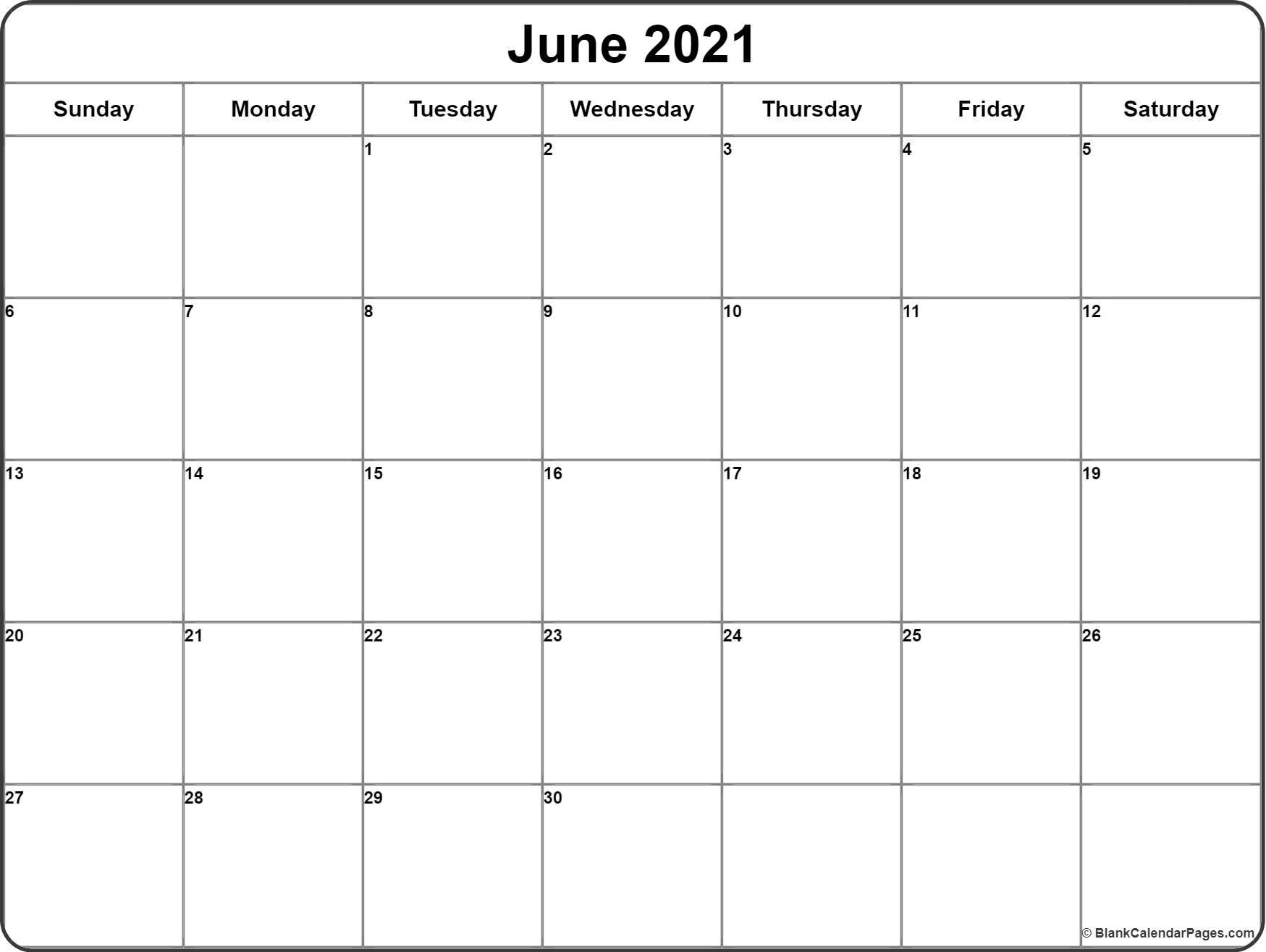 June 2021 Calendar | 51+ Calendar Templates Of 2021 Calendars