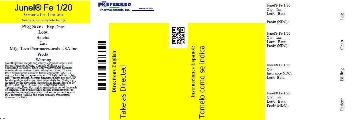 Junel Fe 1/20 (Preferred Pharmaceuticals Inc.): Fda